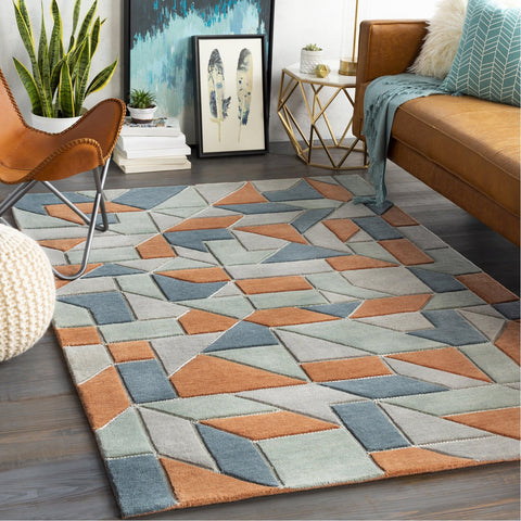 Vernier VRN-1016 Hand Tufted Rug in Peach & Sage by Surya