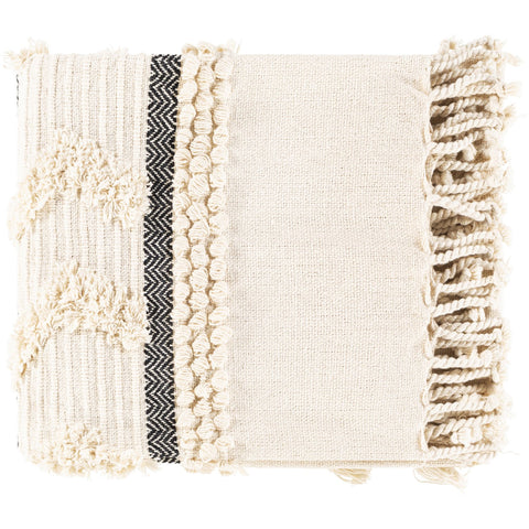 Vasant VSA-1000 Hand Woven Throw in Ivory & Ink by Surya