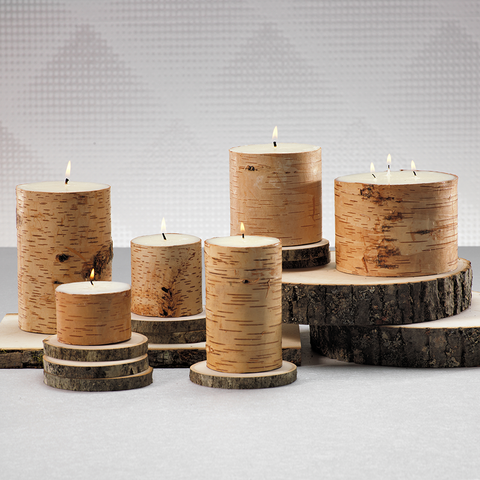 Birchwood Scented Pillar Candle in Various Sizes