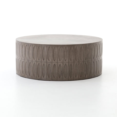 Colorado Drum Coffee Table in Dark Grey