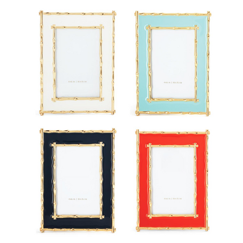 Brynn Gold Bamboo Border Photo Frames in Various Colors design by Tozai