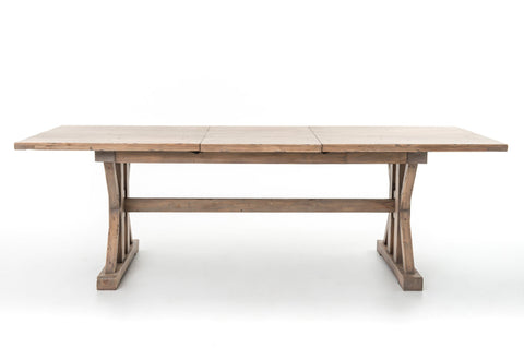 Tuscan Spring Extension Dining Table in Sun Dried Wheat by BD Studio