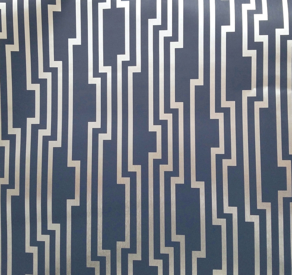 Sample Velocity Wallpaper in Navy from the Candice Olson Journey Collection by York Wallcoverings