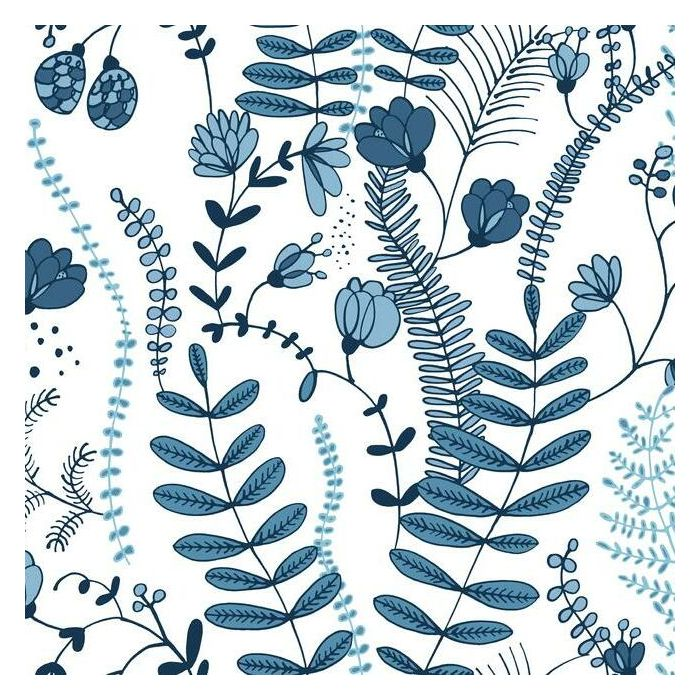 Sample Verso Peel & Stick Wallpaper in Blue and White by RoomMates for York Wallcoverings