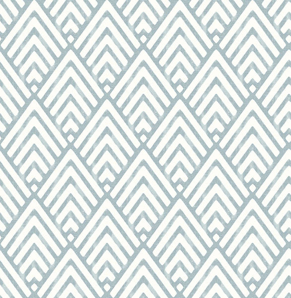 Vertex Blue Diamond Geometric Wallpaper From The Symetrie Collection By Brewster Home Fashions