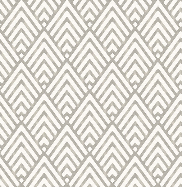 Sample Vertex Charcoal Diamond Geometric Wallpaper from the Symetrie Collection by Brewster Home Fashions