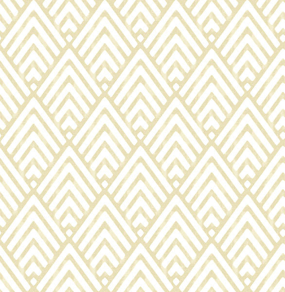 Vertex Gold Diamond Geometric Wallpaper from the Symetrie Collection by Brewster Home Fashions