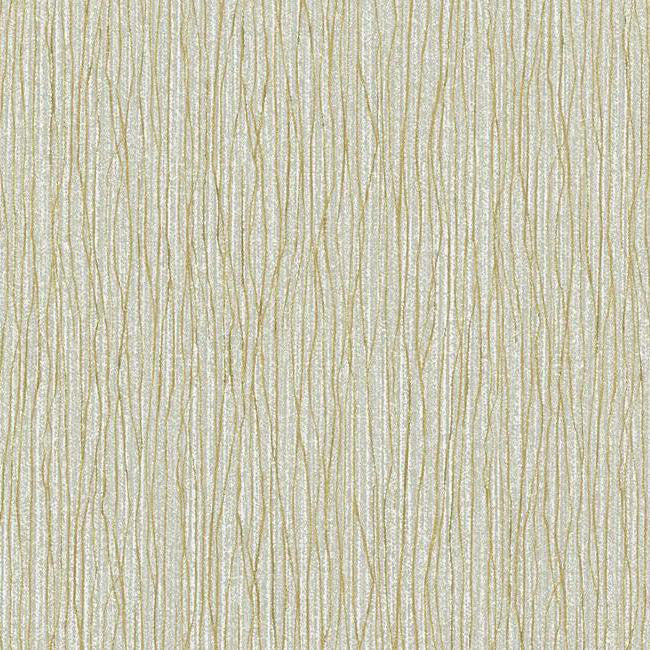 Vertical Strings Wallpaper in Silver and Gold design by York Wallcoverings