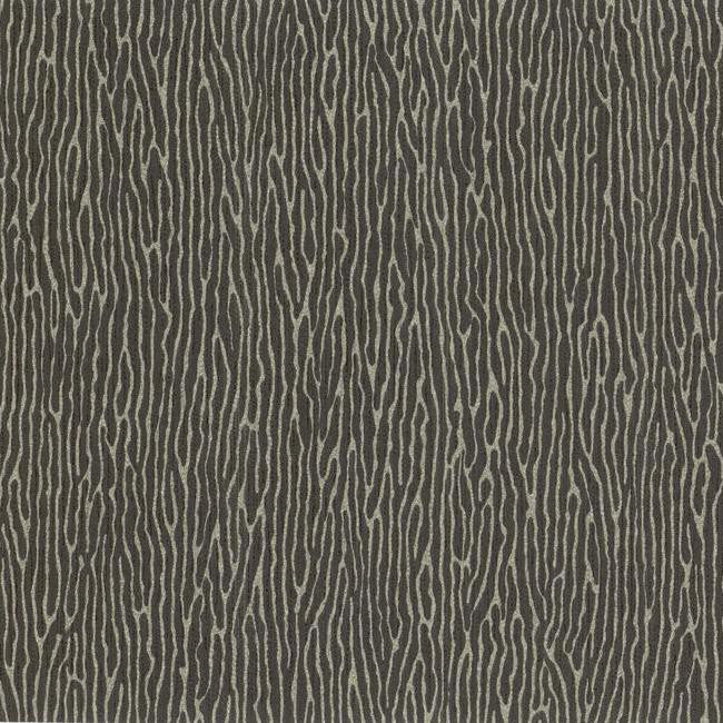 Vertical Weave Wallpaper in Black and Silver design by York Wallcoverings