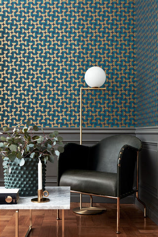 Vertigo Geometric Wallpaper from the Scandinavian Designers II Collection by Brewster