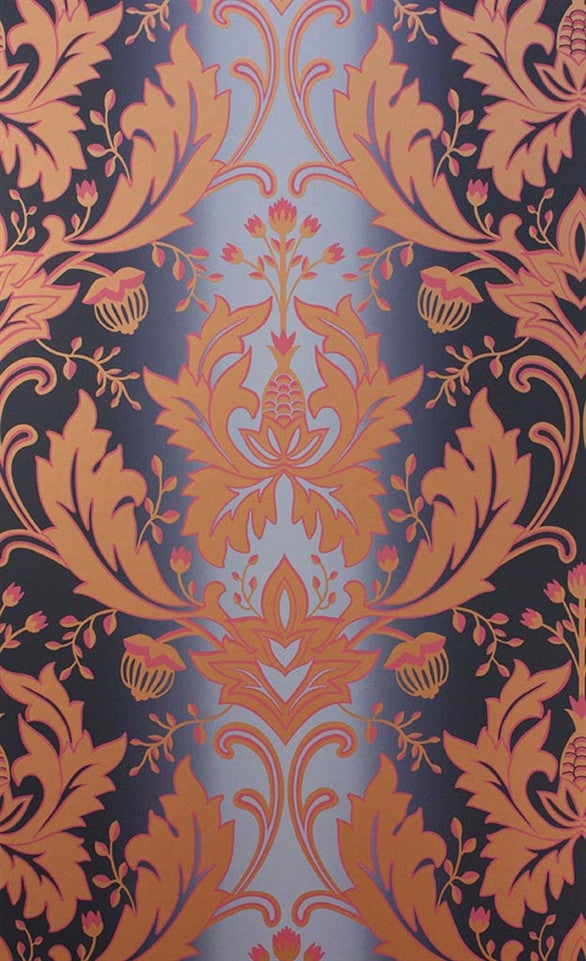Viceroy Wallpaper in Ink, Pink, and Gold by Matthew Williamson for Osborne & Little