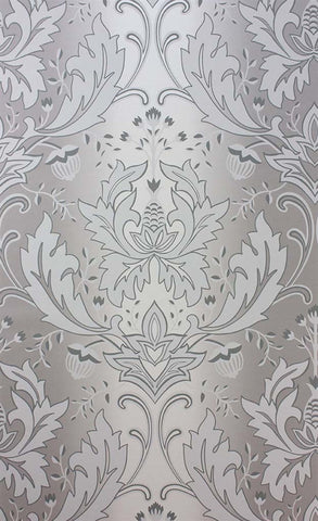 Viceroy Wallpaper in Silver by Matthew Williamson for Osborne & Little