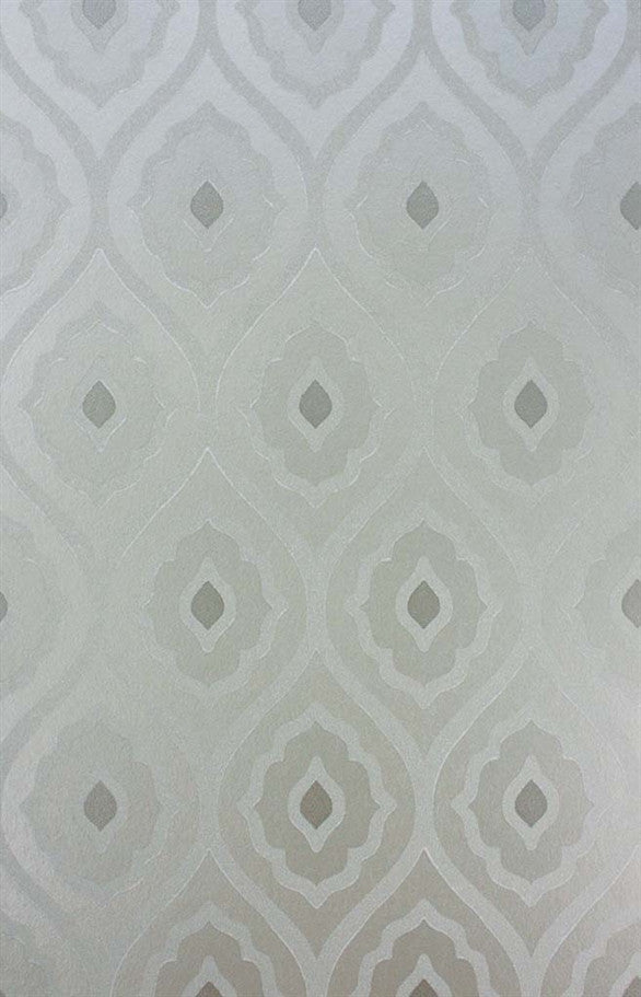 Vignola Wallpaper in Silver by Nina Campbell for Osborne & Little