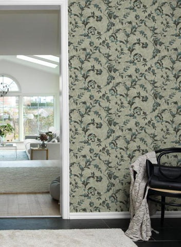 Vine Silhouette Wallpaper from the Impressionist Collection by York Wallcoverings