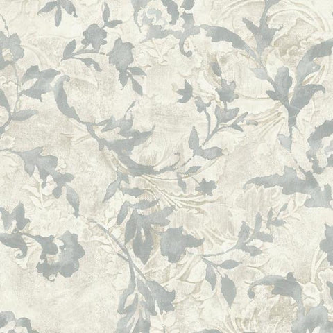 Vine Silhouette Wallpaper in Grey from the Impressionist Collection by York Wallcoverings