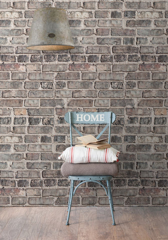 Vintage Bricks Boutique Faux Wallpaper design by Milton & King