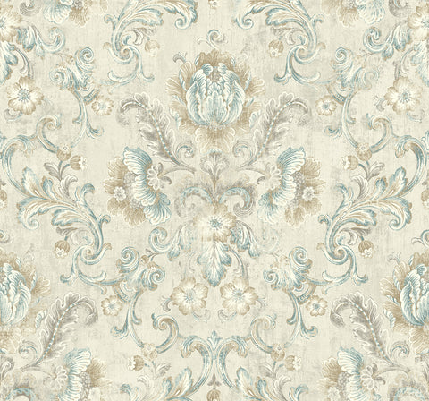 Vintage Cameo Wallpaper in Antiquated Neutral from the Vintage Home 2 Collection by Wallquest