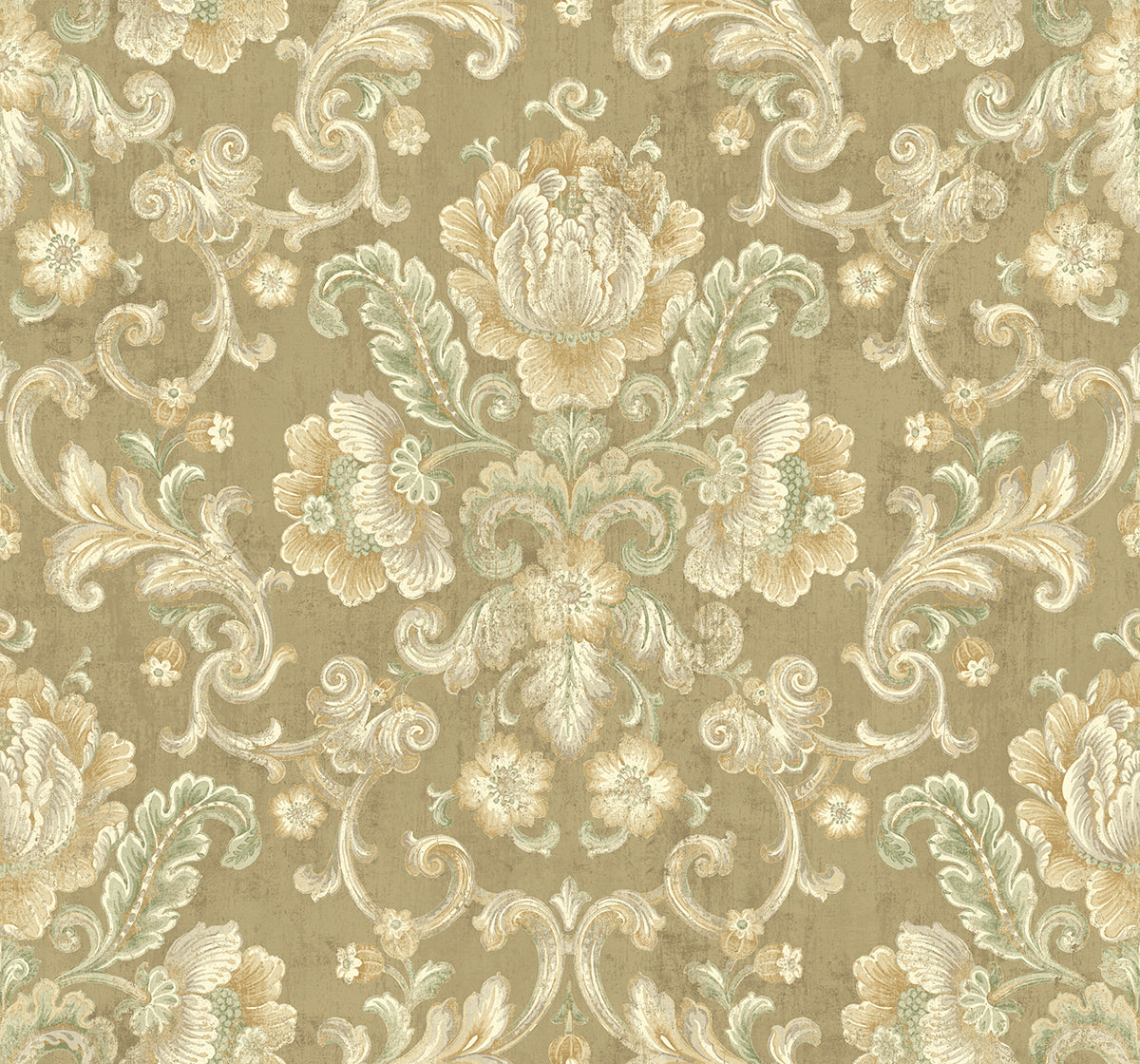 Vintage Cameo Wallpaper in Umber from the Vintage Home 2 Collection ...
