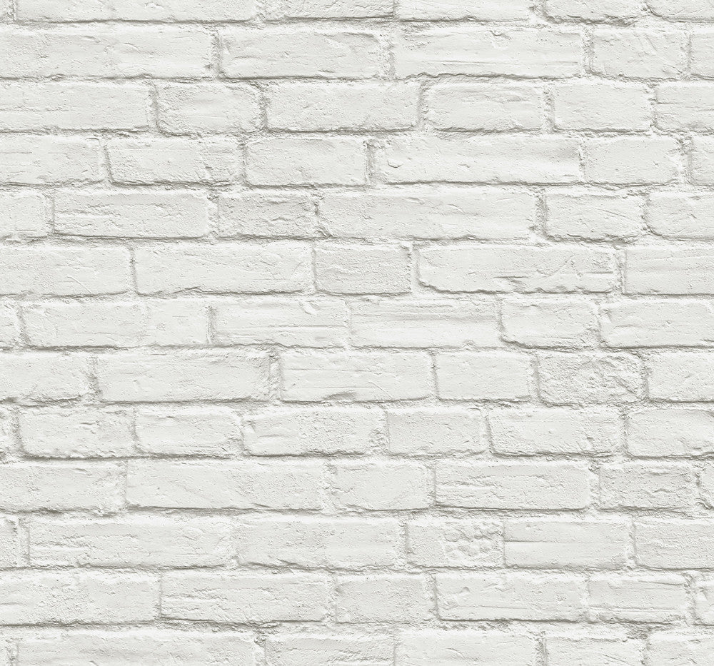 Vintage White Brick Peel And Stick Wallpaper By Nextwall Burke Decor