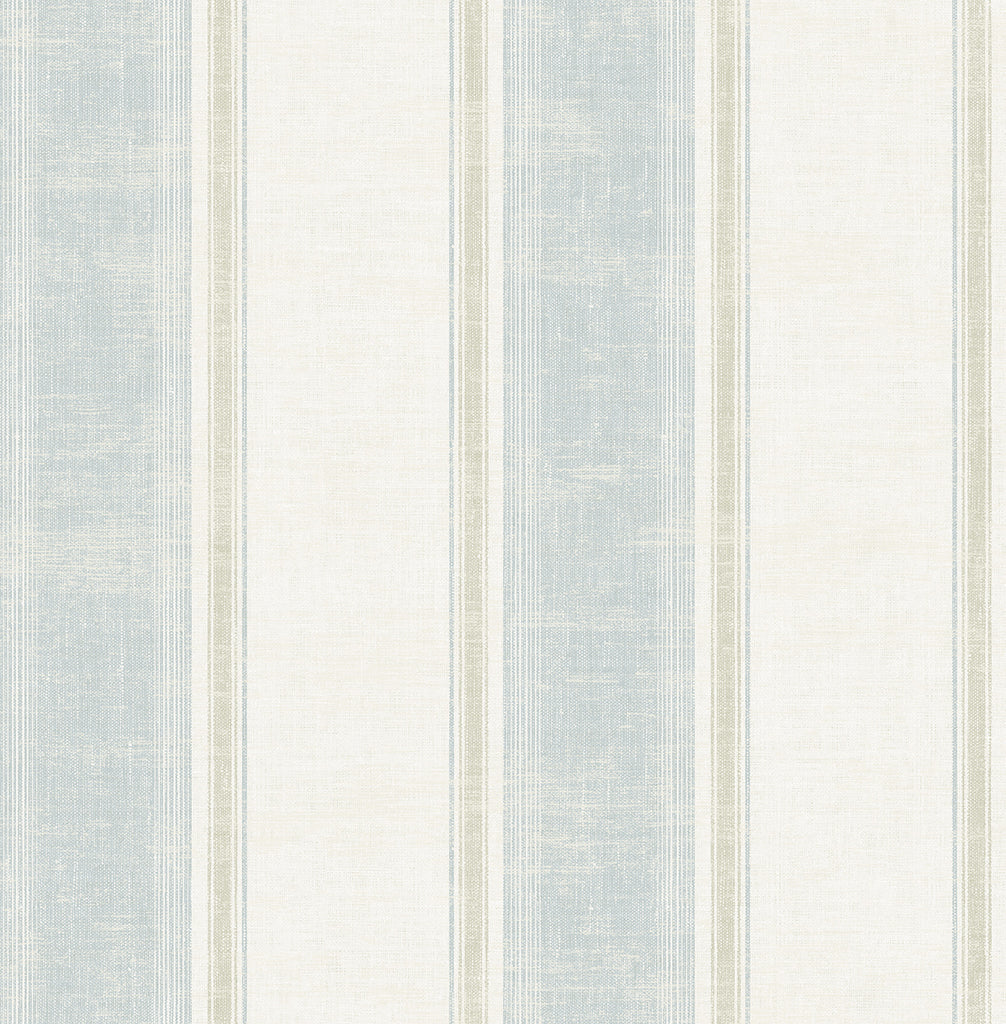 Vintage Wide Stripe Wallpaper in Vintage Blue from the Vintage Home 2 Collection by Wallquest