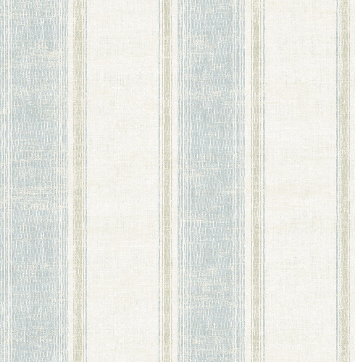 Vintage Wide Stripe Wallpaper In Blue From The Home 2 Collection By Wallquest
