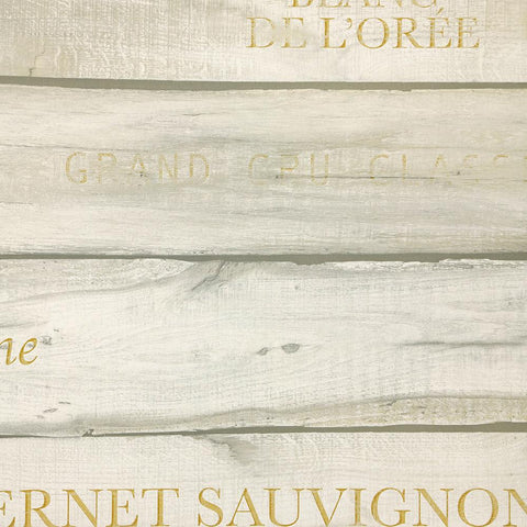 Vintage Wine Crate Wallpaper in Cream from the Precious Elements Collection by Burke Decor