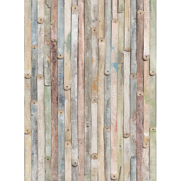 Vintage Wood Wall Mural design by Komar for Brewster Home Fashions