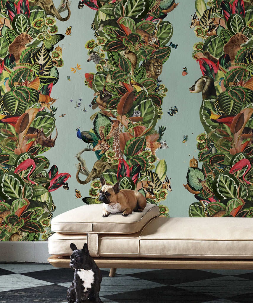 Viva Tropicana Wallpaper (Two Rolls) in Duck Egg from the Kingdom Home Collection by Milton & King