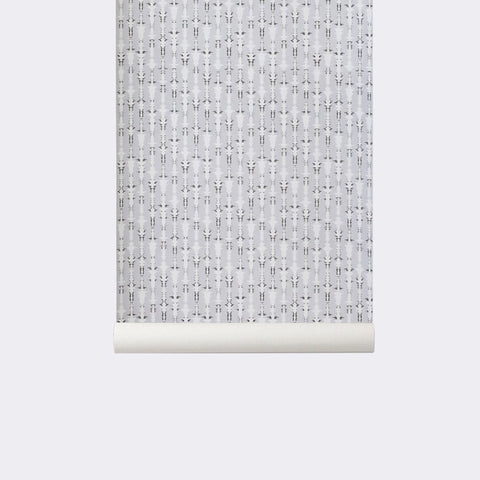 Sample Vivid Wallpaper in Grey by Ferm Living