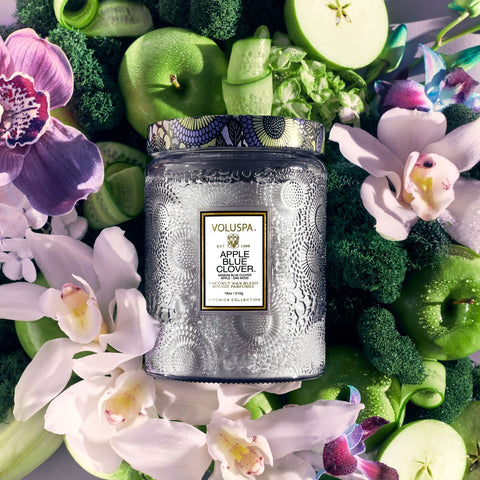 Apple Blue Clover Large Jar Candle