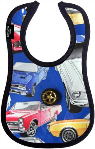 Vroom Baby Bib by Mini Maniacs