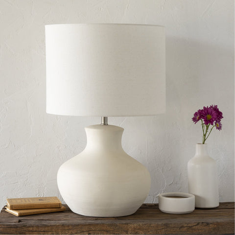 Warren WAE-001 Table Lamp in Cream & Ivory by Surya