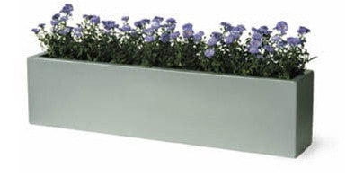 Geo Window Box in Aluminum Finish design by Capital Garden Products