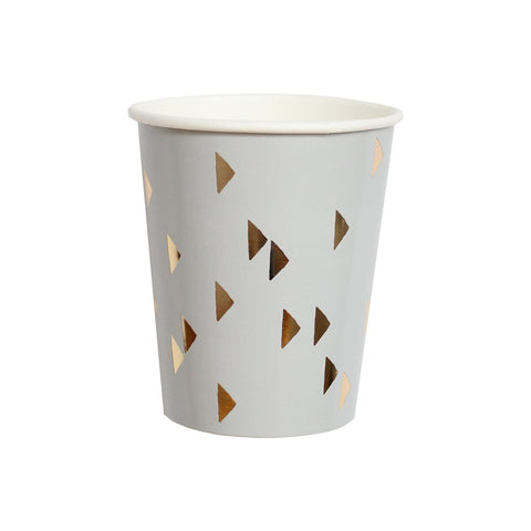 Wander - Grey Triangles Paper Cups design by Harlow & Grey