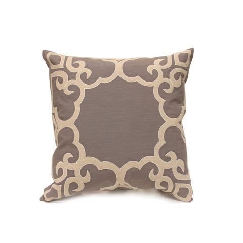 Peking Pillow in French Grey & Mushroom design by Bliss Studio