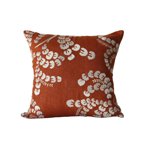 French Springs Pillow in Pumpkin & Ivory design by Bliss Studio