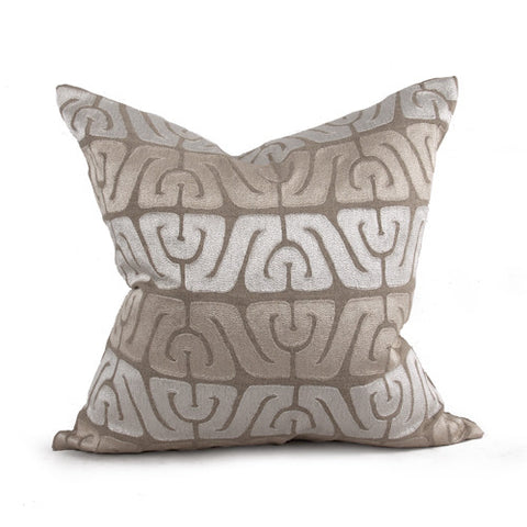 "Inca 22"" Pillow in Natural and Ivory design by Bliss Studio"