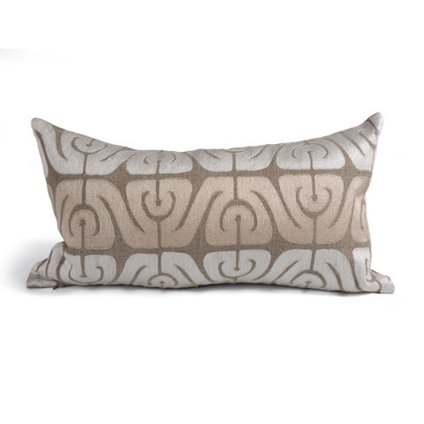 Inca Pillow in Natural and Ivory design by Bliss Studio