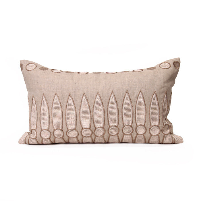Tuftu Pillow in Stone & Cream design by Bliss Studio