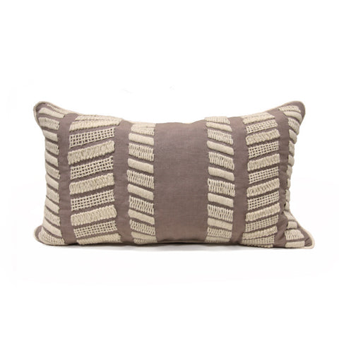Rialto Stitch Pillow in Grey & Bone design by Bliss Studio