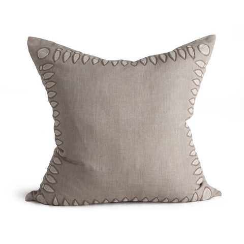 Basilica Pillow in Stone & Cream design by Bliss Studio