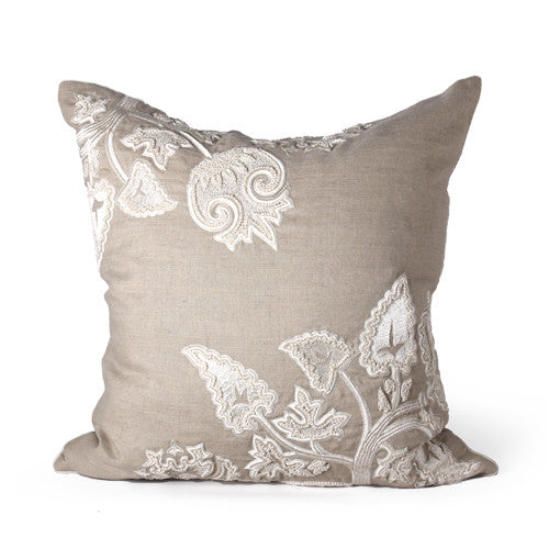 Olivos Pillow in Dark Natural & Bone design by Bliss Studio