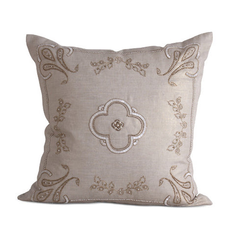 Karaikal Pillow in Natural design by Bliss Studio