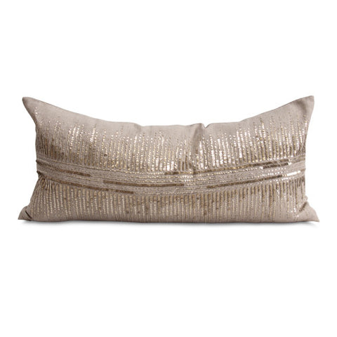 Vionnet Pillow in Champagne & Natural design by Bliss Studio