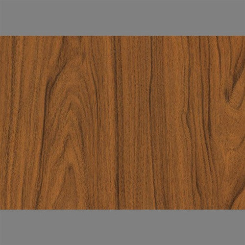 Medium Walnut Self-Adhesive Wood Grain Contact Wall Paper by Burke Decor
