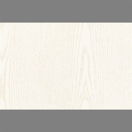 White Pearl Self-Adhesive Wood Grain Contact Wall Paper by Burke Decor