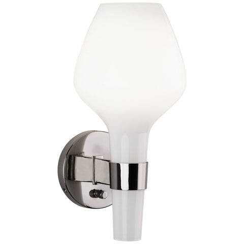 Capri Wall Sconce in Polished Nickel by Jonathan Adler