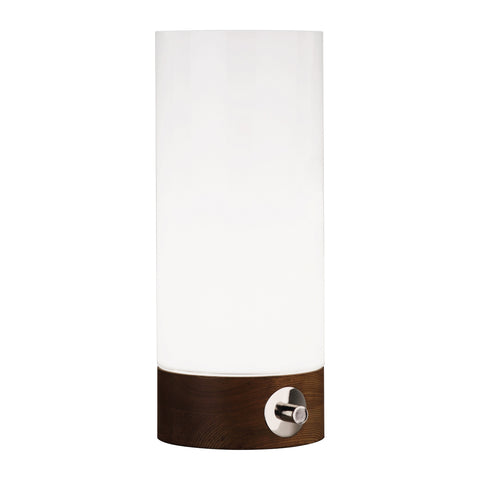 Capri Accent Lamp in Walnut Finished Wood Base by Jonathan Adler