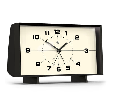 Wideboy Alarm Clock in Black with White Face