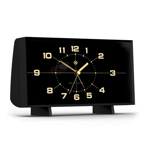 Wideboy Alarm Clock in Black with Black Face design by Newgate
